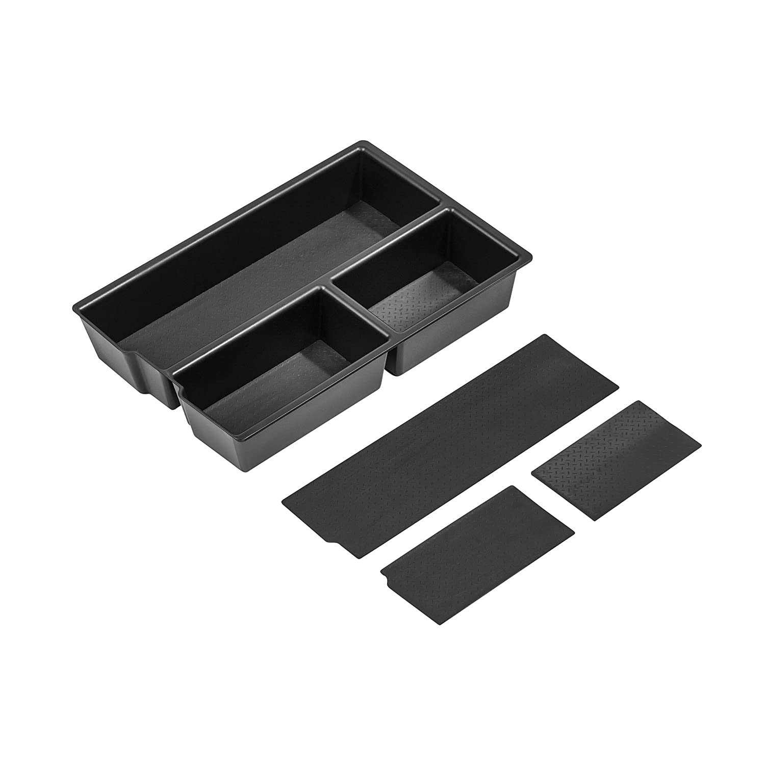 Full Console w//Bucket Seats ONLY and RAM 2500//3500 Vehicle OCD - Made in USA 2010-19 2009-18 Lower Center Console Organizer Tray for Dodge RAM 1500