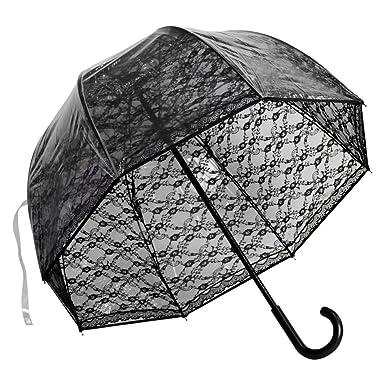 a931a7054860 Elite Rain Umbrella Premium Fiberglass Bubble Umbrella - Black Lace
