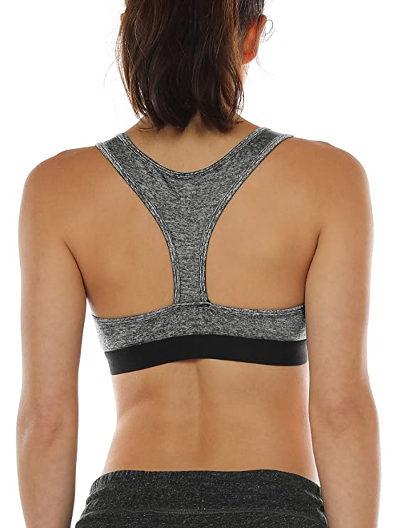 Icyzone Racerback Sports Bras For Women   Women's Activewear Top, Workout Clothes, Running Yoga Bra by Icyzone
