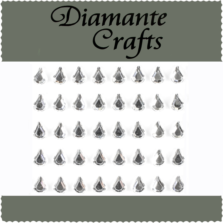180 x 4mm Clear Diamante Self Adhesive Rhinestone Craft Embellishment Gems