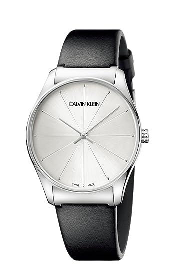 Calvin Klein Reloj Analógico para Mujer de Cuarzo con Correa en Cuero K4D211C6: Amazon.es: Relojes