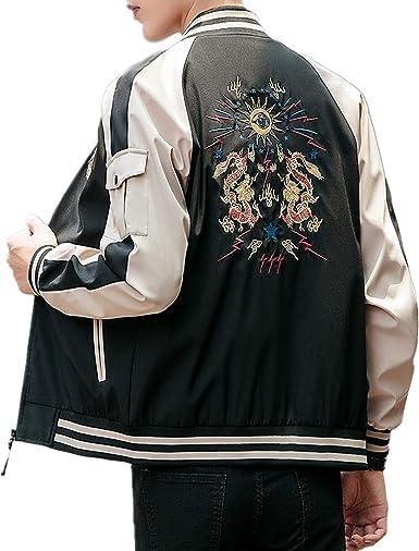 Allonly Mens Fashion Color Block Zip-up Long Sleeve Hoodie Windbreaker Jacket