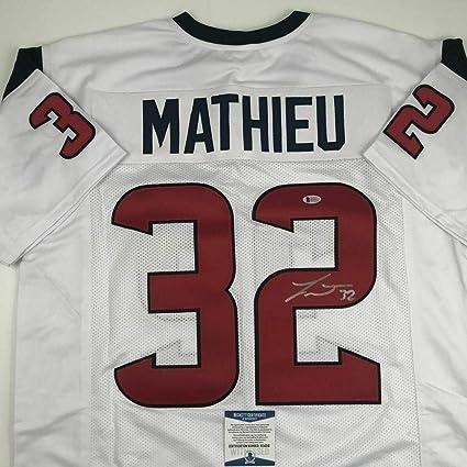 new style 13f35 341a0 Signed Tyrann Mathieu Jersey - White Beckett BAS COA ...