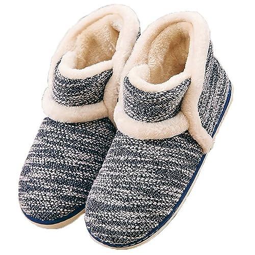 Summer Mae Pantofole da Casa Morbido Antiscivolo Peluche per Donna Blu  Scuro 42 43 EU 97bf0123fbc