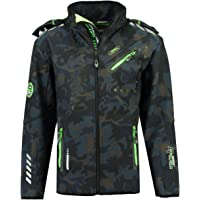 Geographical Norway ROYAUTE MEN - Chaqueta Softshell Impermeable Hombre - Capucha Transpirable Exterior - Chaqueta…