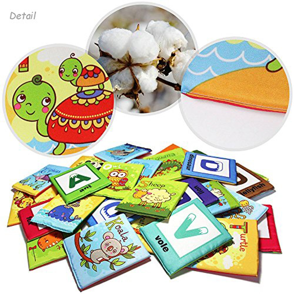 teytoy Baby Toy Zoo Series 26pcs Soft Alphabet Cards with Cloth Bag for Over 0 Years by teytoy (Image #2)