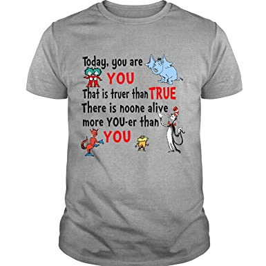 e563d82d5 Amazon.com: Dr. Seuss Quotes for Kids T Shirt, You are You T Shirt: Clothing
