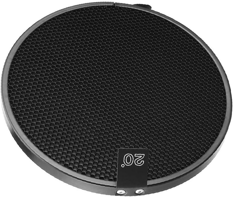 X-DREE 20 Degree Honeycomb Grid Black for 7-inch Reflector Diffuser Lamp Shade Dish 6ef6098f-a222-11e9-8d7c-4cedfbbbda4e