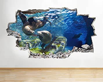z094 Delfine Aquarium Fische Tier Kinderzimmer Wandtattoo ...