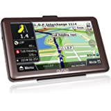 Car GPS Navigation, OUTAD 7-Inch Touchscreen Voice Reminding Vehicle GPS Navigator 8GB Navigation System with Lifetime Map and Car Charger