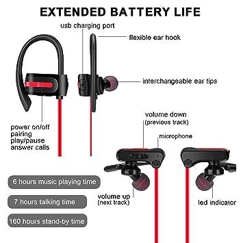Auriculares inalámbricos, Bluetooth, con almohadillas para los ...