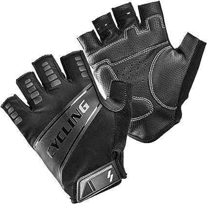 Winpower Fahrradhandschuhe Fingerlos Motorradhandschuhe Atmungsaktive Handschuhe Outdoor Handschuhe Für Herren Damen Schwarz Sport Freizeit