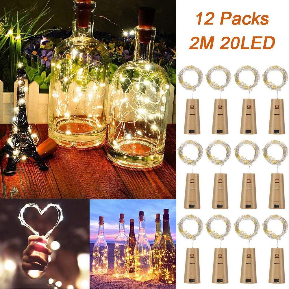 12 Pack Led Luz de Botella, TAYLE 2M 20 LEDs Lámparas de Botellas ...