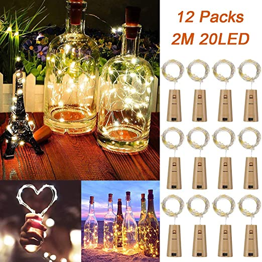 12 Pack Led Luz de Botella, TAYLE 2M 20 LEDs Lámparas de Botellas ...
