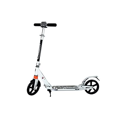 Scooter Color White for Teenagers and Adults with Double Suspension, 2 Large Wheels | Folds Easily, Adjustable Height, Scooter for Urban Drivers, Supports up to 220 pounds of Weight. : Sports & Outdoors