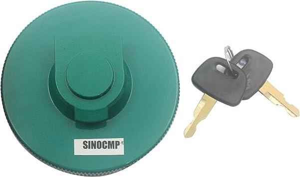 Sinocmp Kraftstofftankdeckel Mit 2 Schlüsseln Tankdeckel Für Kobelco Bagger 3 Monate Garantie Auto