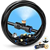 "HOMENOTE Misting Cooling System, 26FT (8M) Misting Line + 7 Brass Mist Nozzles + a Brass Adapter(3/4"") Outdoor Mister…"
