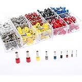 AIRIC 970pcs 22/20/18/16/14/12/10/8 Gauge Copper Ferrule Pin Cord End Crimp Pins Terminal Kit