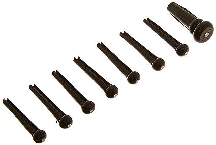 Fender Bridge Pin Set - Black w/ White Dot