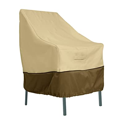 Classic Accessories Veranda Water-Resistant 25.5 Inch High Back Patio Chair Cover : Patio Furniture Set Covers : Garden & Outdoor