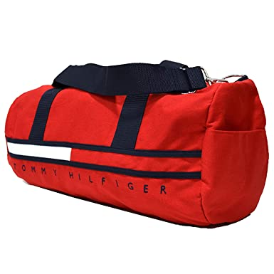 1794dee316 Amazon.com  Tommy Hilfiger Big Logo Large Duffle Bag (Red)  Shoes