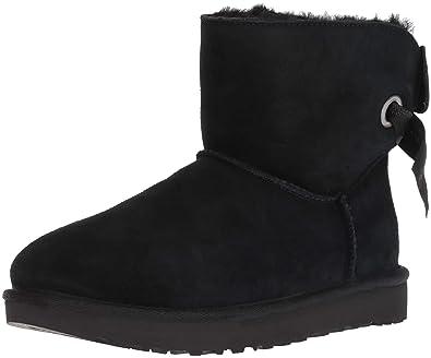 UGG Women's W Customizable Bailey Bow Mini Fashion Boot, Black, ...