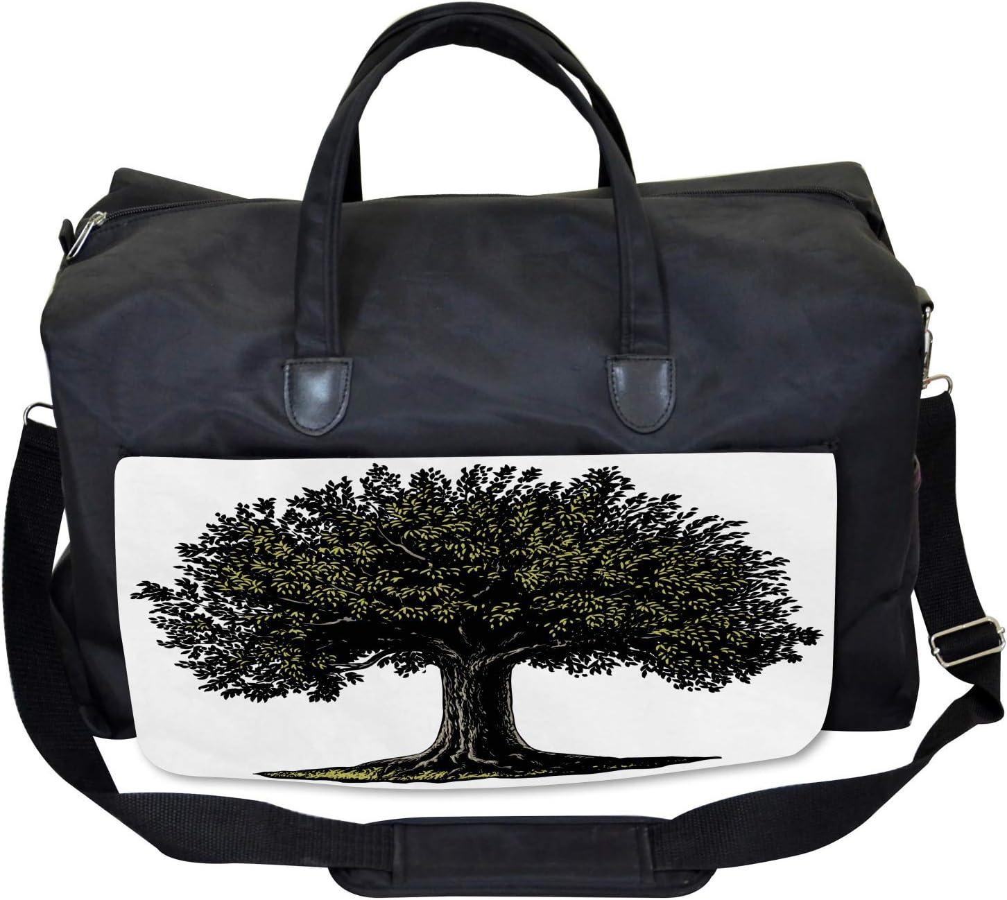 Ambesonne Tree of Life Gym Bag Large Weekender Carry-on Digital Fruit Tree