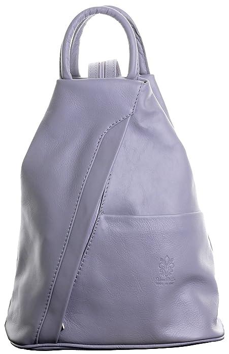 Primo Sacchi Italiana Napa suave luz cuero gris asa superior bolso mochila mochila. Incluye bolsa protectora marca: Amazon.es: Zapatos y complementos
