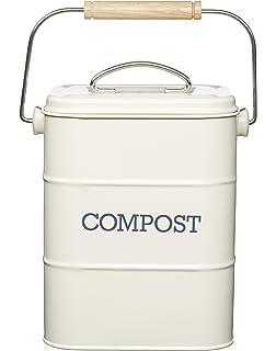 Cubo para Compost de 5 Litros con Revestimiento de Plástico ...