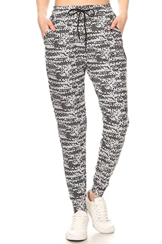 cc253f17 Leggings Depot Premium Jogger Women's Popular Print High Waist Track Pants(S-XL)  at Amazon Women's Clothing store: