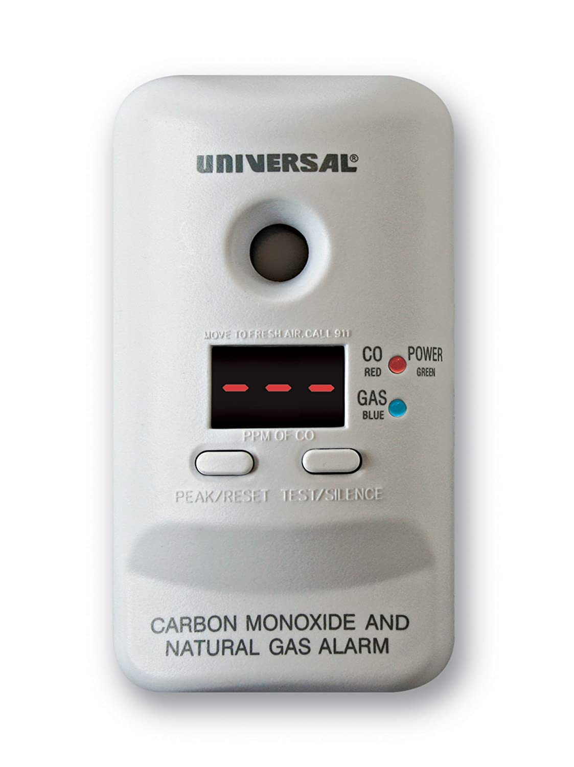 Universal Security Instruments MCND401 M Series Plug In Carbon Monoxide and Natural Gas Alarm with 9 Volt Battery Backup