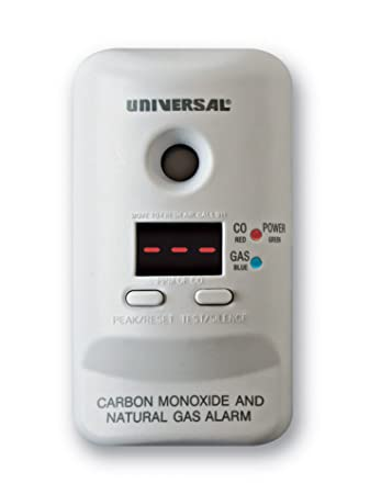 Universal Security Instruments MCND401 M Series Plug-In Carbon Monoxide and Natural Gas Alarm with 9-Volt Battery Backup