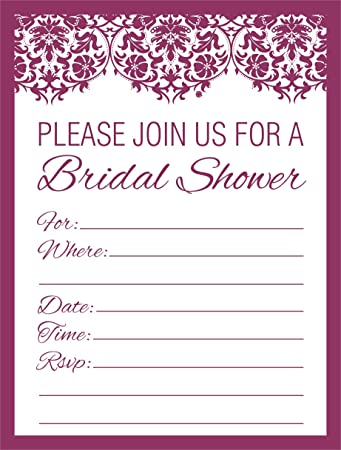 jot mark bridal shower invitations bulk blank vintage invites in lace damask print