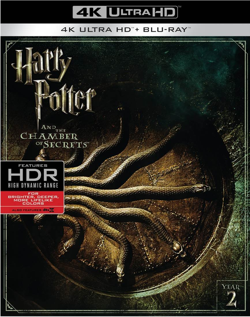 4K Blu-ray : Harry Potter And The Chamber Of Secrets (With Blu-Ray, 4K Mastering, Digitally Mastered in HD, 2 Pack, 2 Disc)
