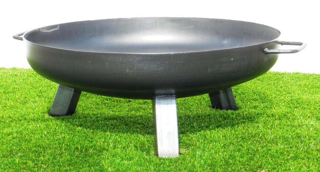 feuerschale aus stahl 1000 mm mit 3 beinen und 2 griffen mwd. Black Bedroom Furniture Sets. Home Design Ideas