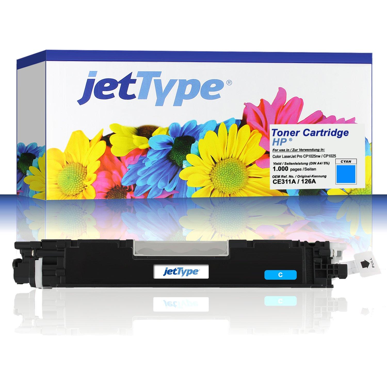 jettype Toner Set sustituye a HP 126 A (CE310 A/CE311 A/CE312 A ...