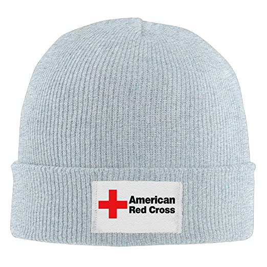 e488038b65804f Unisex American Red Cross Winter Warm Knit Beanie Skully Hat Ash at ...