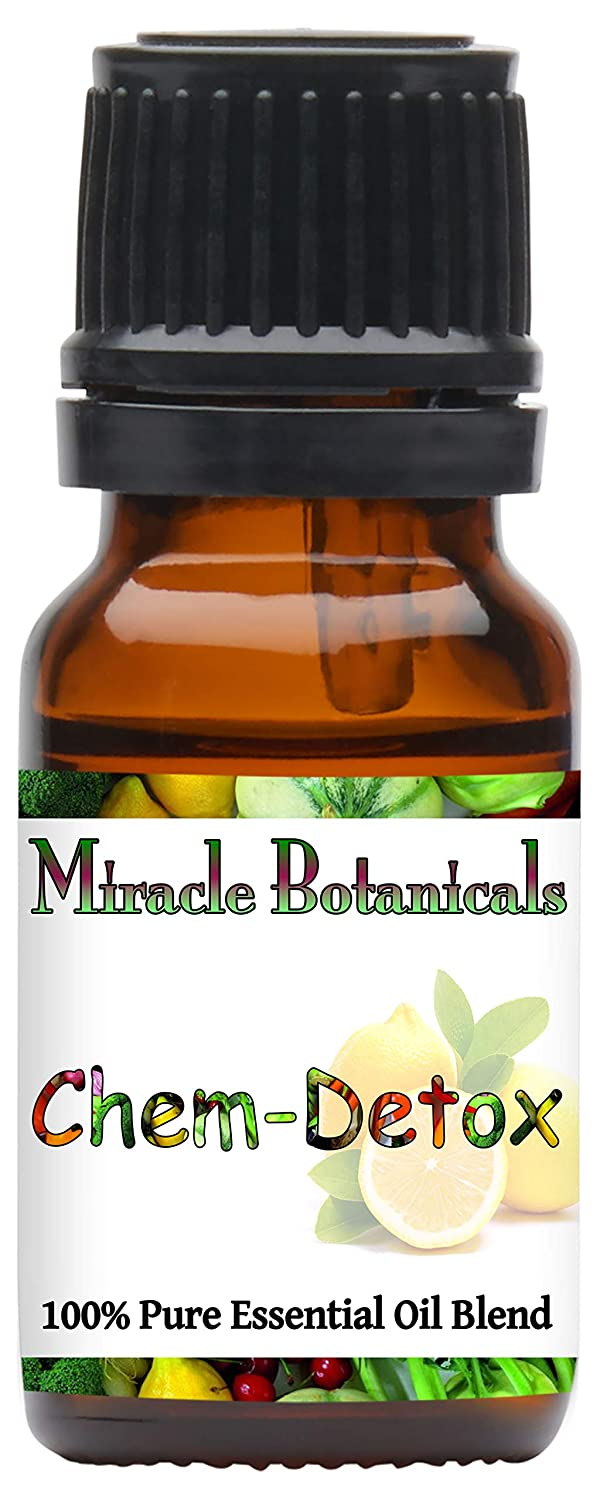 Miracle Botanicals Chem Detox Essential Oil Blend - 10ml or 30ml Sizes - 100% Pure Therapeutic Grade Essential Oils 10ml