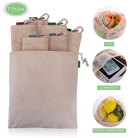 Amazon.com: EKKONG - Bolsas de malla reutilizables para ...