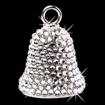 Guardian Bell Lady Skull w// Pink Enamel Pendant Lucky Charm
