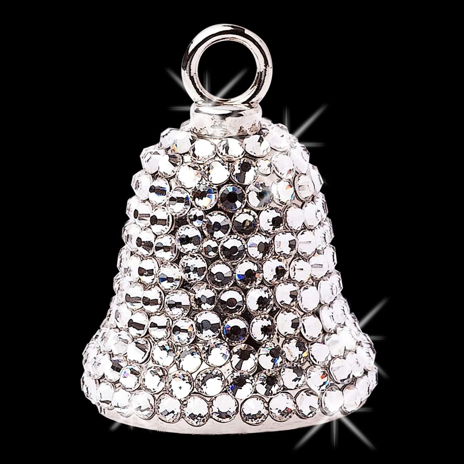 Sparkle Rider Motorcycle Ride Bell for Women - Handcrafted Biker Bells with  Swarovski Crystals - Guardian Angel Bling Accessory for Gremlin Protection  ... 5d993cdafb