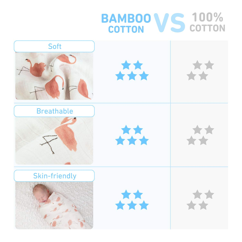 Amazon.com: Manta de muselina de bambú, paquete de 3, suave ...
