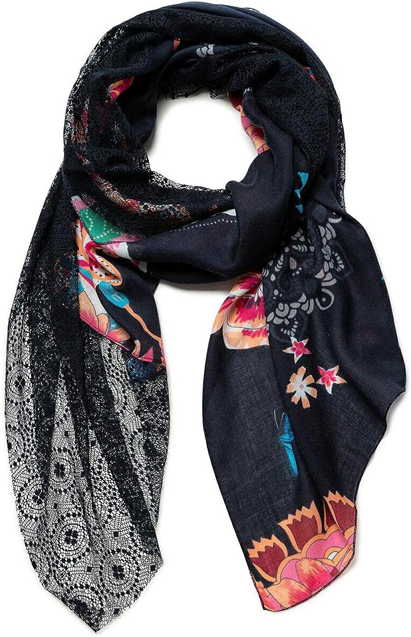 U Donna Desigual Foul/_Logo Love Sciarpa di Moda Black