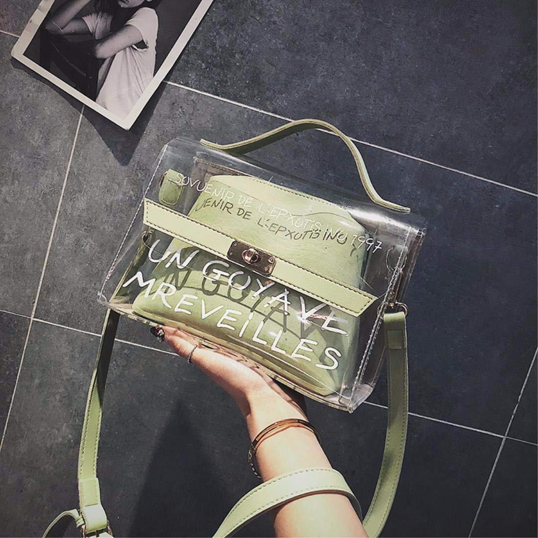 YISANLING-XKB Beutelbeutel-Sommerschulterbeutel-Doppeltasche der Weiblichen Beutelgelee-Paket-Transparenten Tasche Flut B07GXK7YC4 Umhngetaschen Mittlere Kosten
