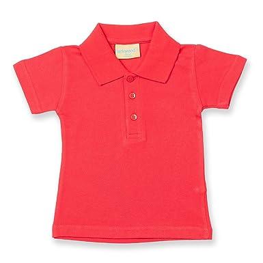 5a6ed462d Larkwood Baby/Toddler Polo Shirt Red 18-24: Amazon.co.uk: Clothing