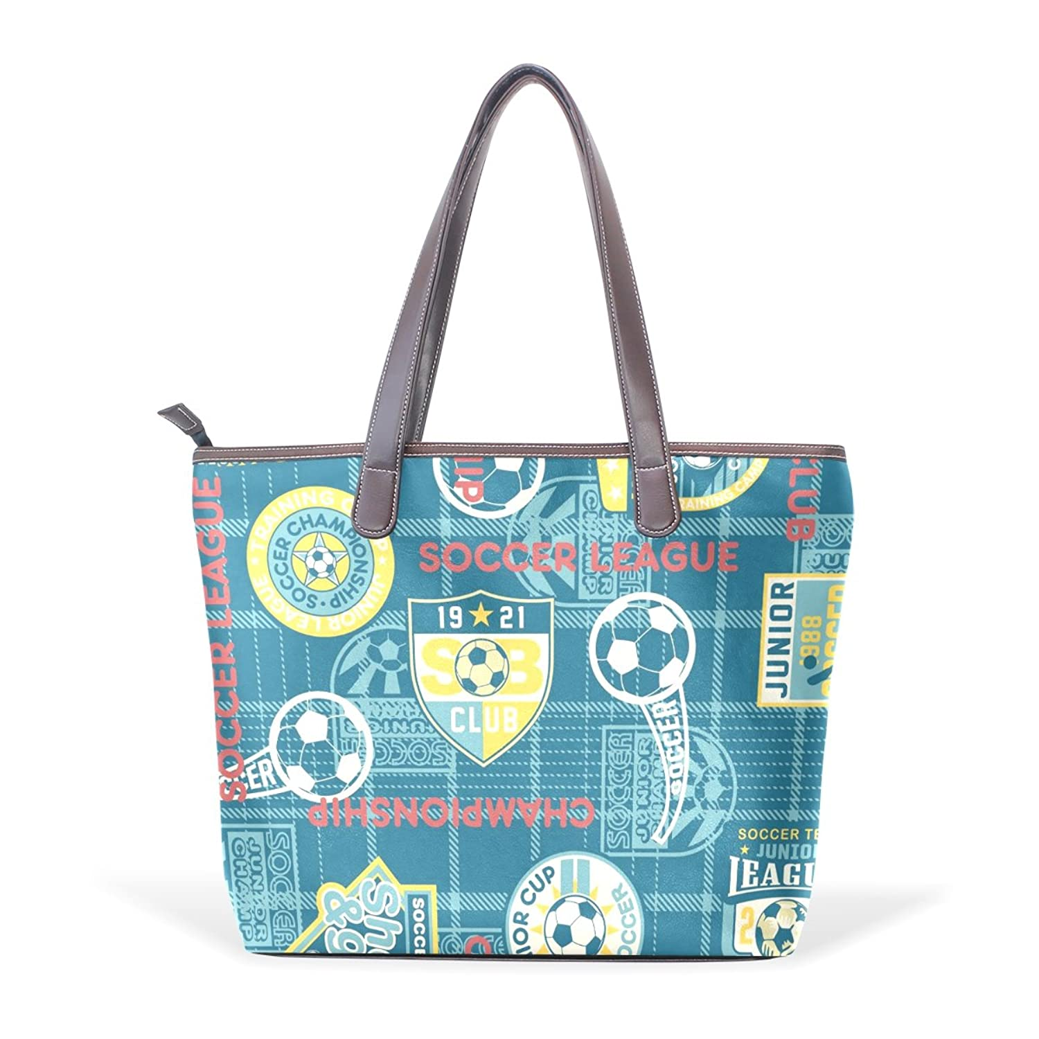 Womens Leather Tote Bag,Vintage Travel Stickers Navy Aircraft,Large Handbag