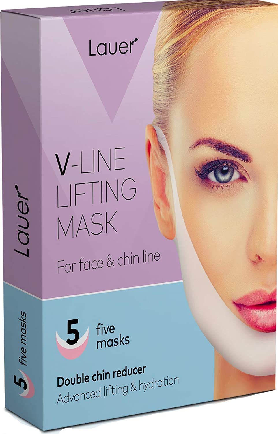 V Shaped Slimming Face Mask Double Chin Reducer V Line Lifting Mask Neck Lift Tape Face Slimmer Patch For Firming and Tightening Skin : Beauty