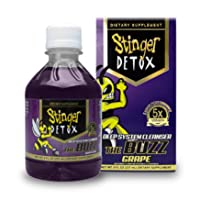 Stinger Detox Buzz 5X Extra Strength Drink – Grape Flavor – 8 FL OZ - 2 Pack