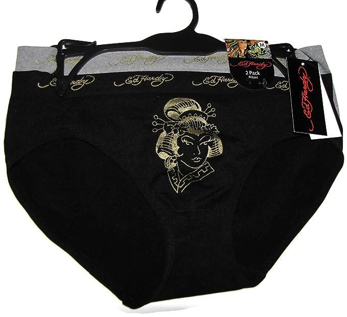 Ed Hardy 2-Pack Geisha Bikini Women s Underwear  Amazon.ca  Clothing ... e4af6424d2