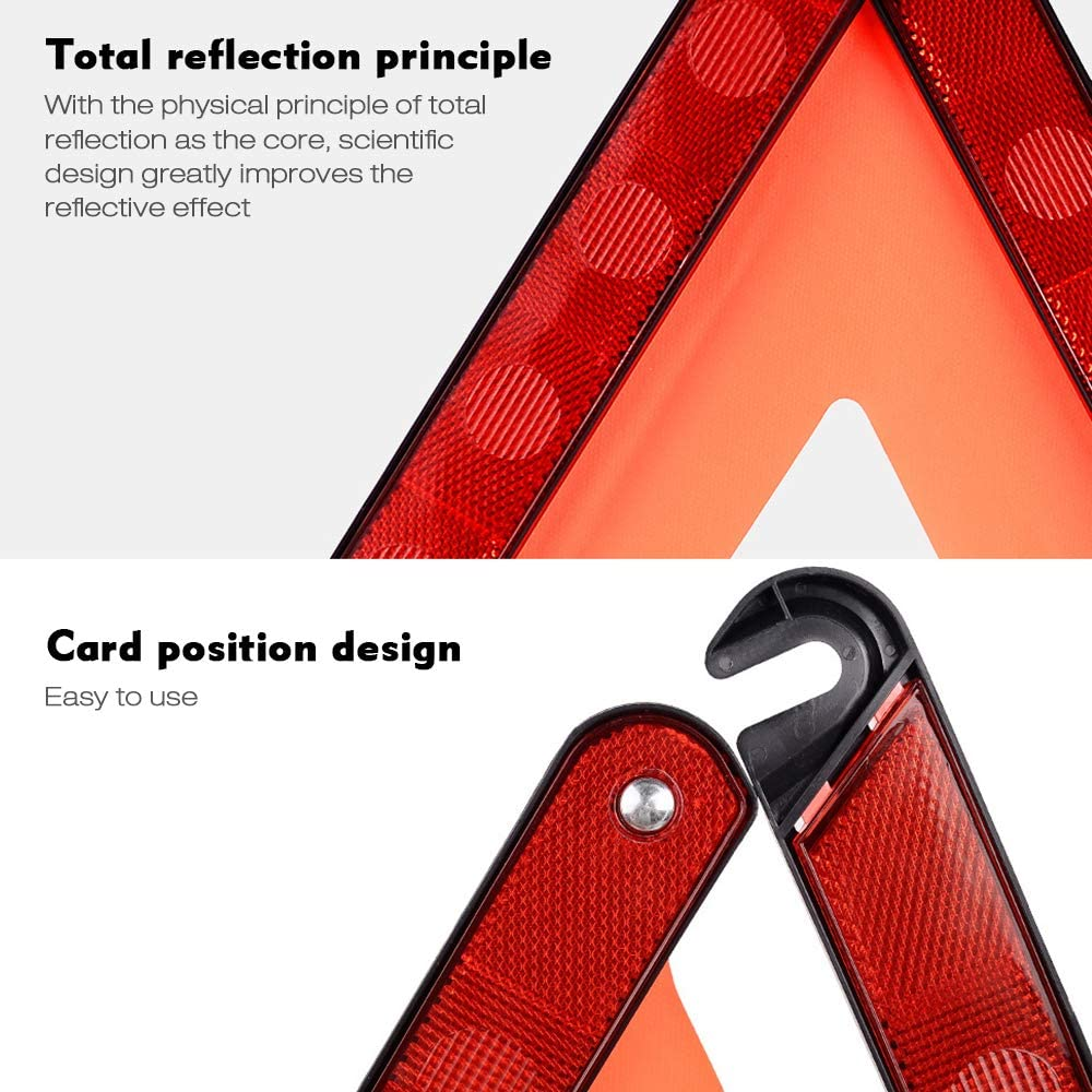 Ajcoflt Dreieck Warnung Reflektor Sicherheit Stoppschild Reflektor Signal Auto Notfall Safe Triangle Kit Rot